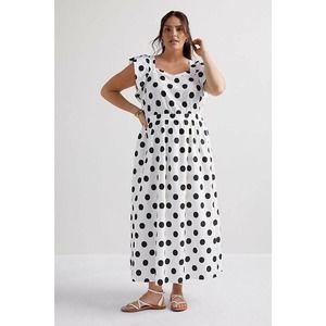 New Anthropologie Amadi Polka Dot Maxi Dress